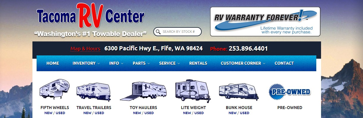 before branding photo of Tacoma RV Center. 1